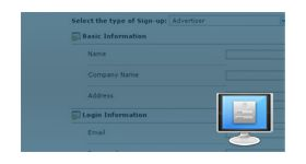 Admin Control Panel for User Profile Targeting